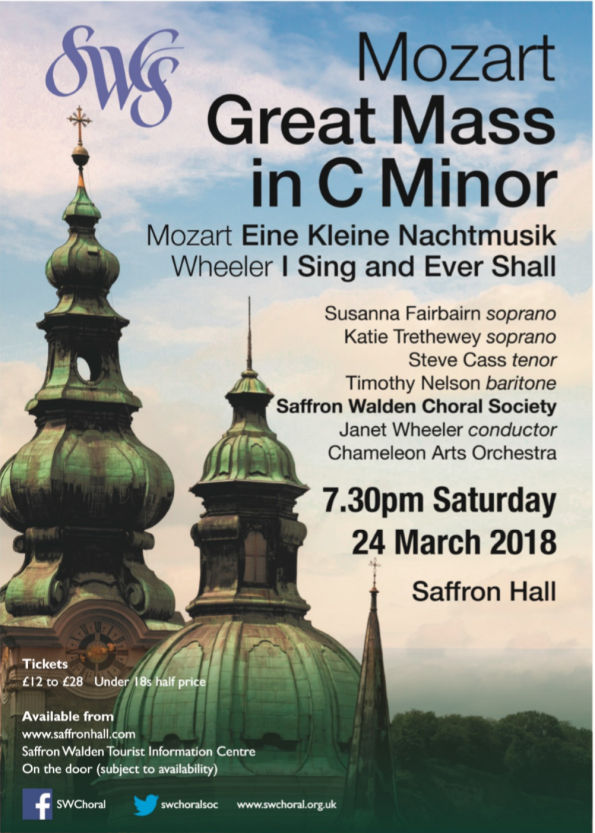 Mozart: The Great C Minor Mass, Eine Kleine Nachtmusik / Wheeler: I Sing and Ever Shall Poster