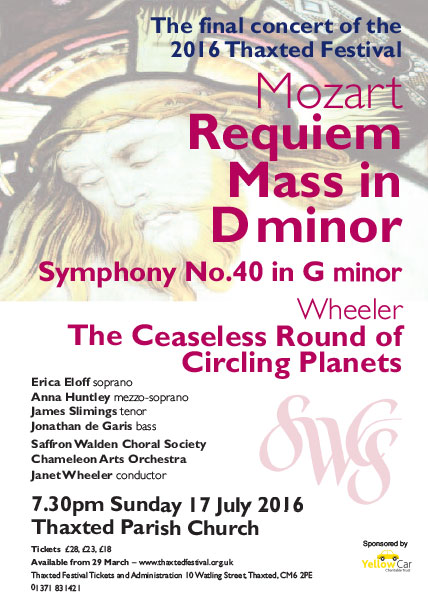 Mozart - Requiem Mass in Dminor, Symphony No.40 in G minor Wheeler - The Ceaseless Round of Circling Planets Poster