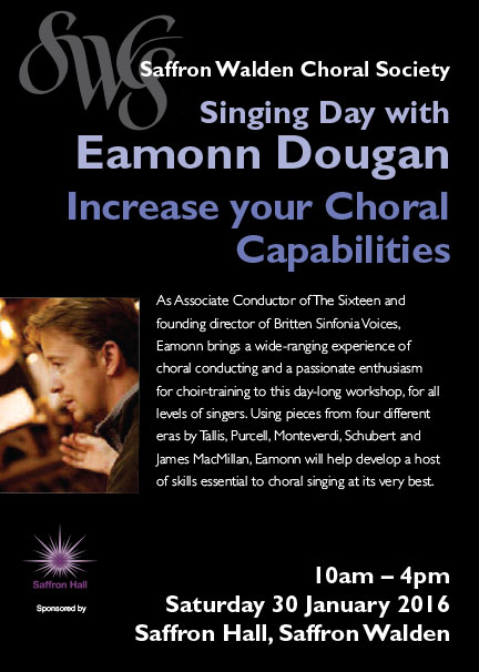 SWCS Singing Day with Eamonn Dougan Poster